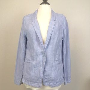 Poetry Jackets & Coats - Poetry Light Blue Linen Blazer